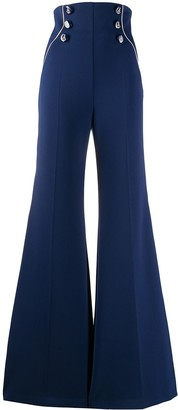 Elisabetta Franchi Stripe Detail Flared Trousers