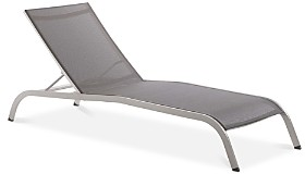 Modway Savannah Mesh Chaise Outdoor Patio Aluminum Lounge Chair