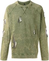 Versus distressed sweatshirt - men - Cotton/metal - S