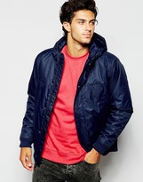 Quiksilver Jacket With Hood In Poly Twill - Blue