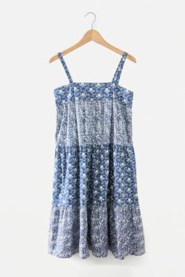 Urban Renewal Vintage Urban Outfitters Archive Nicci Tiered Dress - Blue S at Urban Outfitters