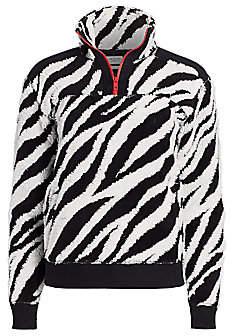 Rag & Bone Women's Zebra Print Half-Zip Pullover