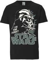 Logoshirt Darth Vader Print Tshirt Schwarz