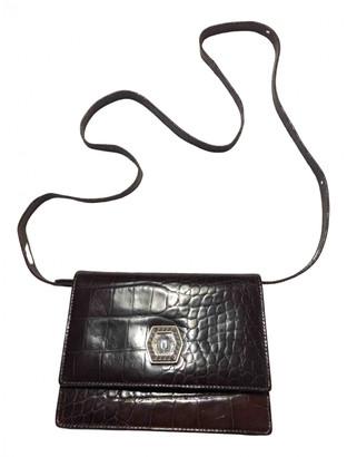 Gianni Versace Palazzo Empire Brown Leather Handbags