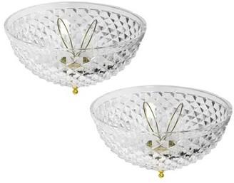 "8"" Plastic Ceiling Fan Bowl Shade Mercer41"
