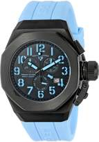 Swiss Legend Men's 10542-BB-01-BBLA Trimix Diver Chronograph Dial Light Blue Silicone Watch