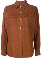 Frame suede shirt jacket