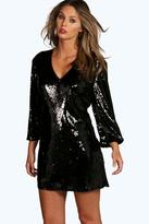 Boohoo Boutique Persie All Over Sequin Shift Dress