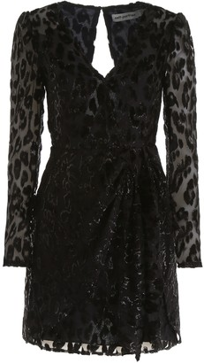 Self-Portrait Self Portrait Devore Leopard Mini Dress