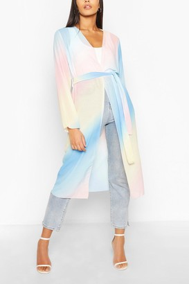 boohoo Pastel Ombre Maxi Kimono