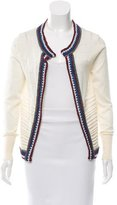 Suno Crochet-Accented Open Front Cardigan