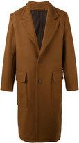 Ami Alexandre Mattiussi classic long lined coat - men - Wool/Polyimide - 46