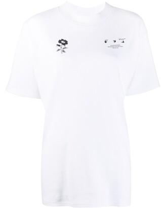Off-White flower print short-sleeve T-shirt