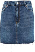 Topshop TALL Raw Hem High Waisted Skirt