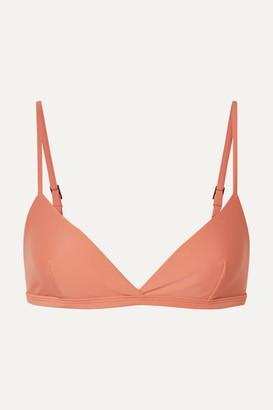 Matteau - The Crop Triangle Bikini Top - Coral