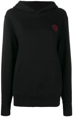 A.F.Vandevorst logo knit hoodie