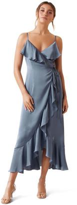 Forever New Ivana Wrap Frill Midi Dress