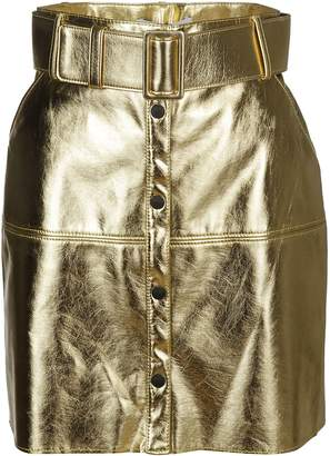 MSGM Gold Mini Skirt