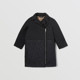 Burberry Childrens Monogram Quilted Recycled Polyester Coat