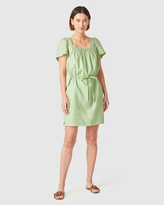 French Connection Women's Dresses - Linen Shirred Dress - Size One Size, 16 at The Iconic