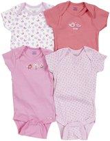 Gerber 4 Pack Onesies (Baby) - Pink-24 Months
