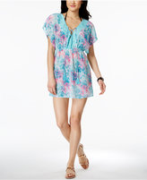 Miken Tie-Dyed Crochet-Trim Cover-Up
