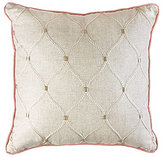 Veratex Rosario Scroll-Embroidered Square Pillow