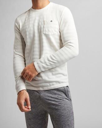 Express Striped Long Sleeve Pocket T-Shirt