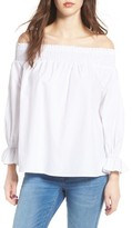 Soprano Women's Bow Off-The-Shoulder Top