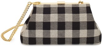 Mansur Gavriel Checker Mini Volume Clutch - Black