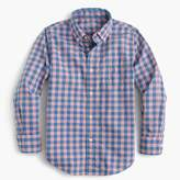 J.Crew Kids' Secret Wash shirt in heathered gingham