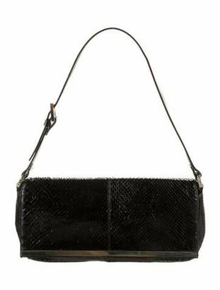 Fendi Python Shoulder Bag Black