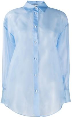 MSGM Transparent Button-Up Shirt