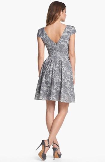 Betsey Johnson Lace Print Fit & Flare Dress