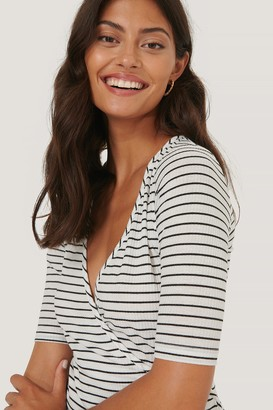 NA-KD Overlap Striped Top