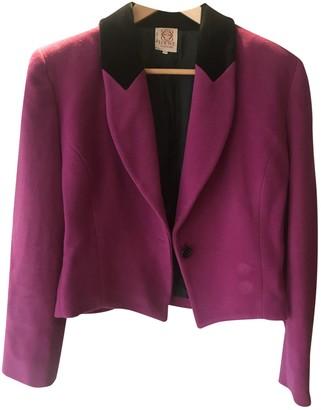 Loewe Purple Wool Jackets