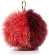Furla Bubble Pom-Pom Bicolor Fox Fur Bag Charm