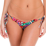 Luli Fama Crystalized Wavey Ruched Back Brazilian TieSide In Multicolor (L50802)