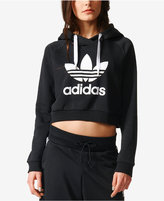 adidas Cropped Logo Hoodie