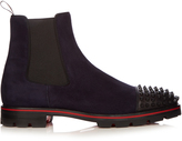 Christian Louboutin Melon spike-embellished suede chelsea boots