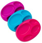 Boon Platter Edgeless Nonskid Divided Plate, Purple/Blue/pink by