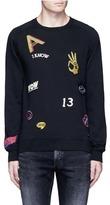 Scotch & Soda Icon patch raglan sleeve sweatshirt