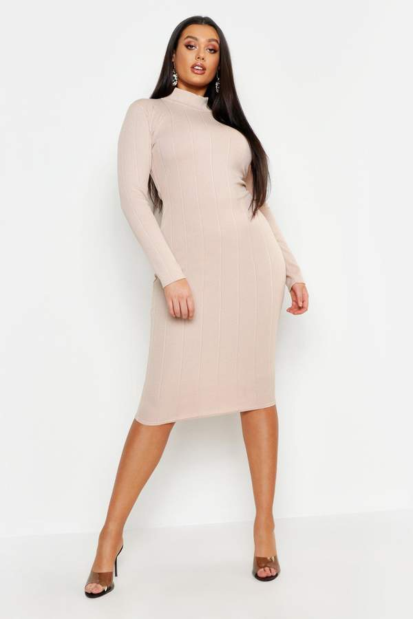 a1586bb93be boohoo Gray High Neck Dresses - ShopStyle