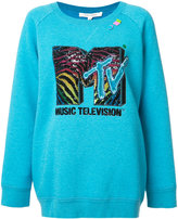 Marc Jacobs logo sweatshirt - women - Wool/Tencel/Polyester/Polyimide - XS