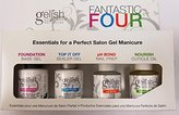 Gelish Soak off gel Nail Polish Kit (Fantastic Four Package)