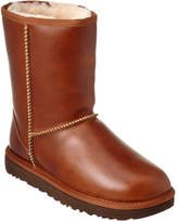 UGG Women's Classic Short Water-Resistant Leather Boot