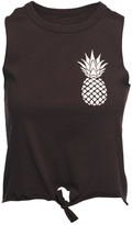 Chaser LA Pineapple Tie Front Tee
