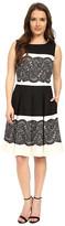 Tahari by Arthur S. Levine Petite Twill F & F Dress