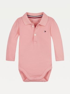 Tommy Hilfiger Organic Cotton Long Sleeve Polo Bodysuit