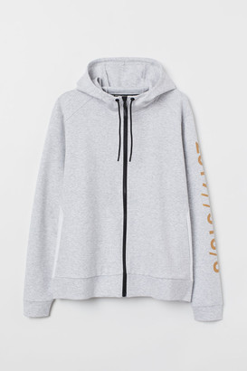 H&M H&M+ Hooded Track Jacket - White